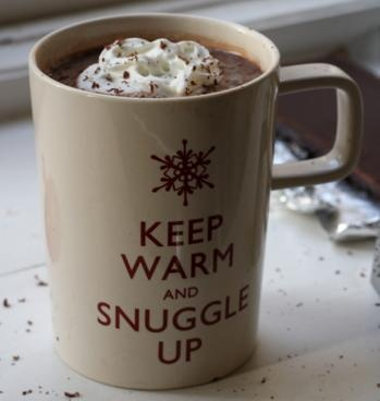The perfect salted caramel hot cocoa recipe to snuggle up with.
