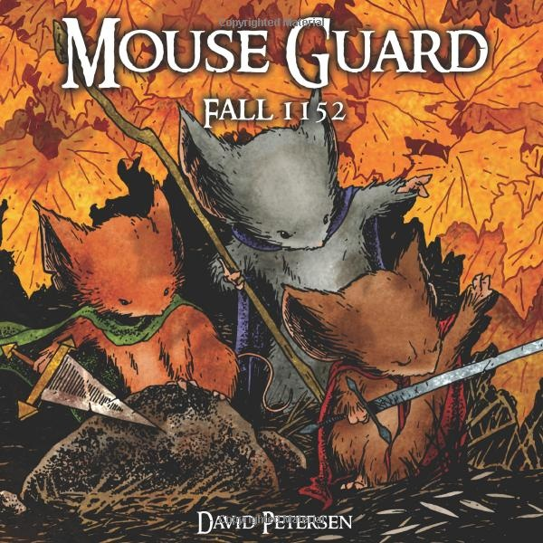 This is a great series about anthropomorphic mice fighting against predators like owls, and other mice