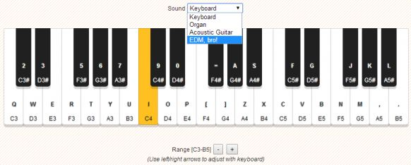 Emulated Keyboard using HTML5 Audio Element – Audiosynth.js