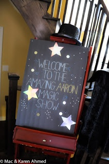 Magic Party - entrance board