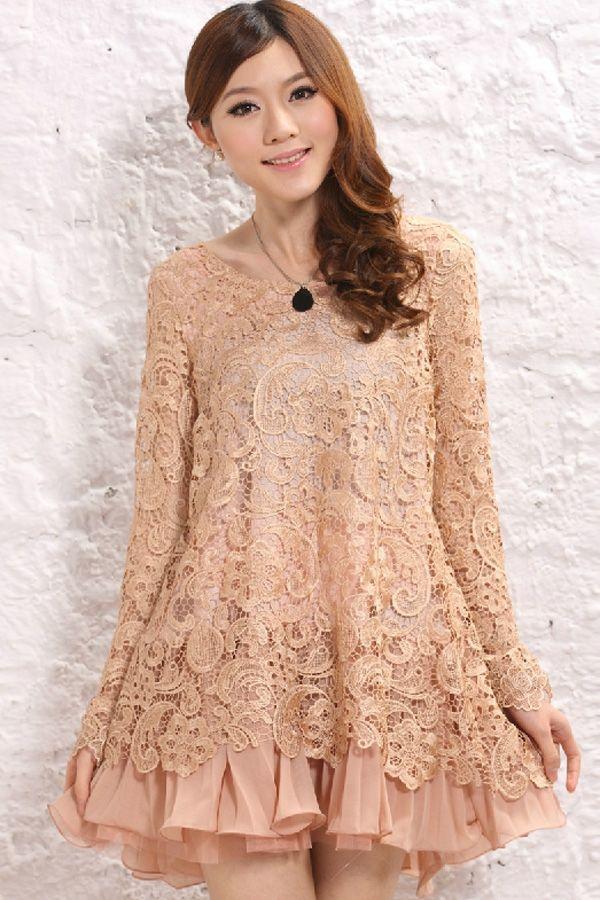 Sweet Lace Overlay Dress