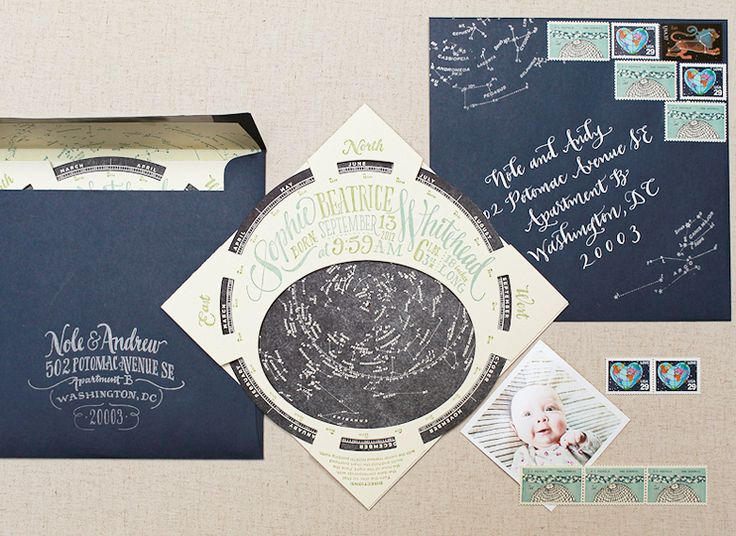Constellation Starfinder Letterpress Birth Announcements by Ladyfingers Letterpress for Oh So Beautiful Paper (31)