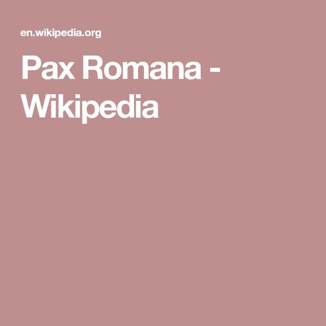 Pax Romana - Wikipedia