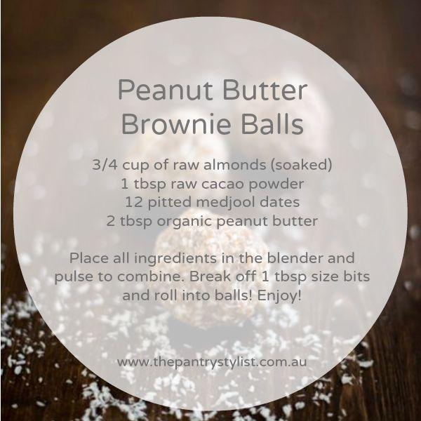 Peanut butter brownie balls  #paleo #health #fitness #recipe