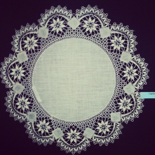 Today started Rauma Lace week. Rauma is full of lace exhibitions during one week
