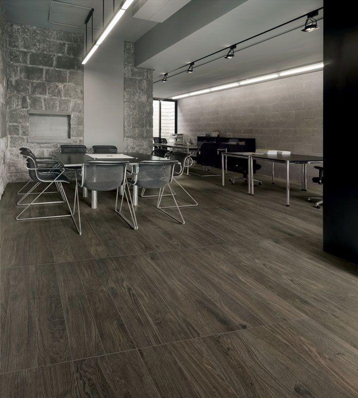 Piastrelle in gres porcellanato effetto legno bio timber oak grigio scuro lea ceramiche - Piastrelle gres effetto legno ...