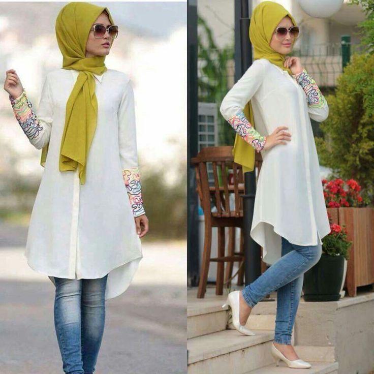 White hijab dress