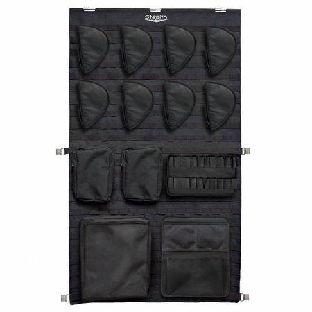 Stealth Tactical Molle Gun Safe Door Panel Organizer Large - available in 3 sizes to allow FULL CUSTOMIZATION of the interior of your safe.