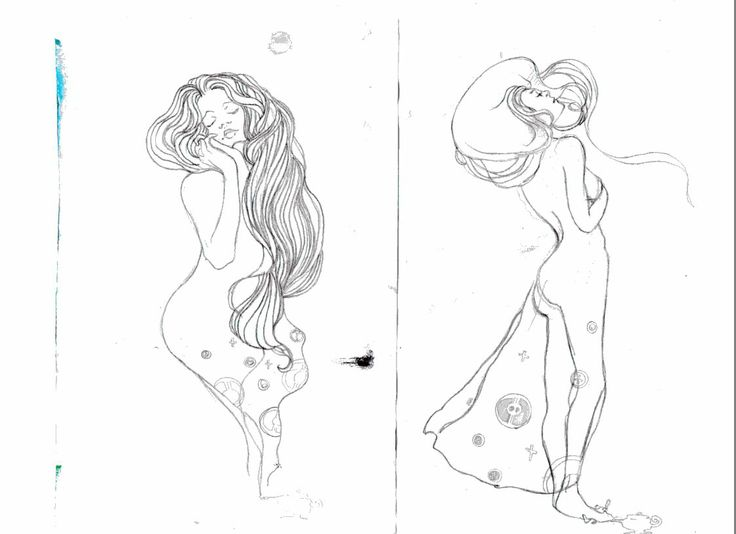 my illustration ispired by Klimt