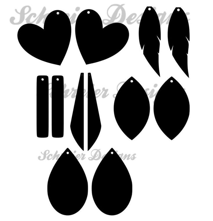 Earring display cards svg faux leather earrings svg png