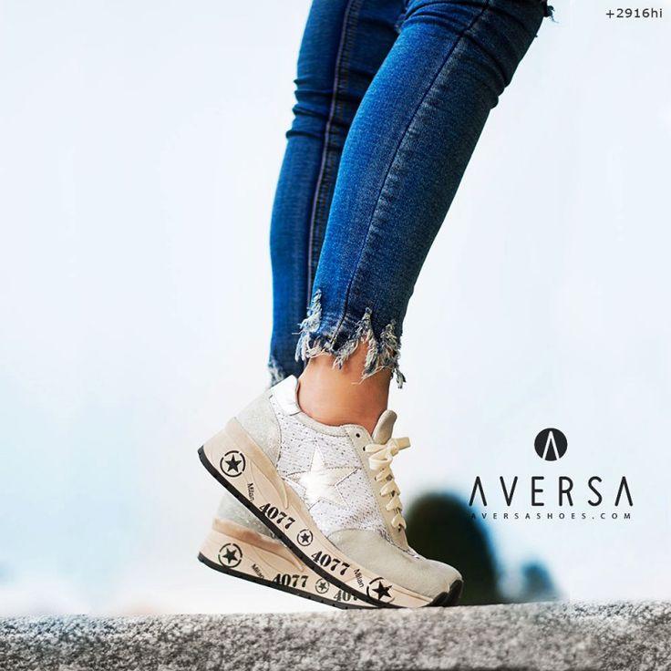 Kammi Sneakers Arezzo paillettes argento