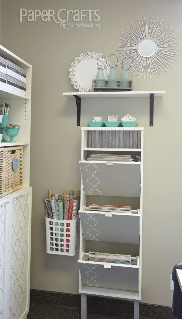 Paper Storage - Paper Crafts & Scrapbooking room featured in Creative Spaces, Vol. 3: craft space, organization