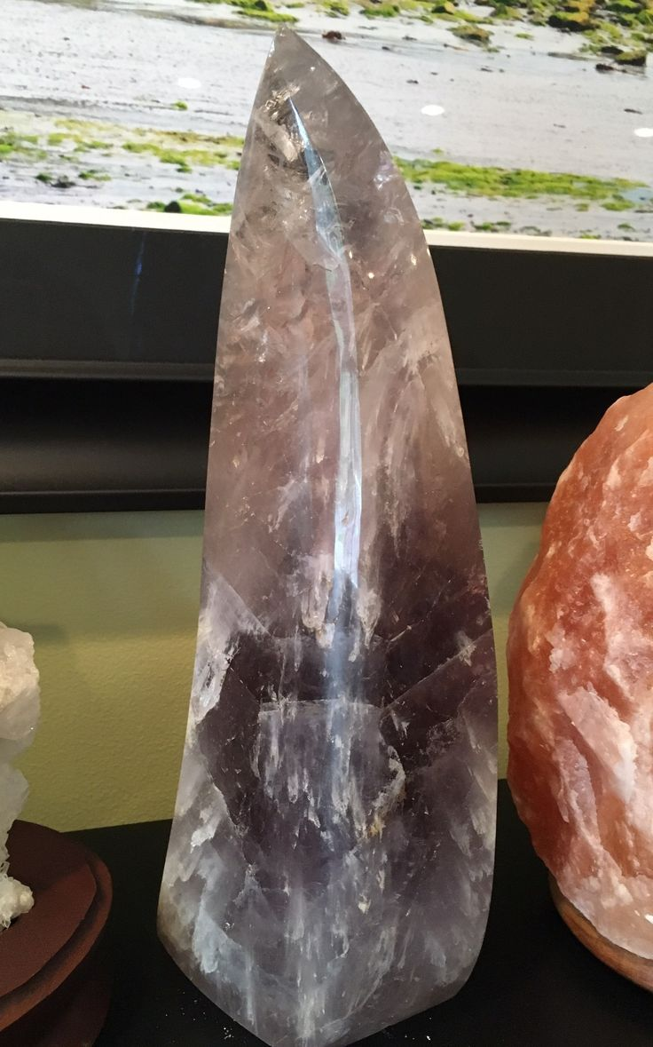 Amethyst Crystal Flame Large