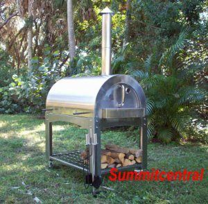 ilFornino Wood Fired Pizza Oven- High Grade Stainless Steel by ilFornino, New York