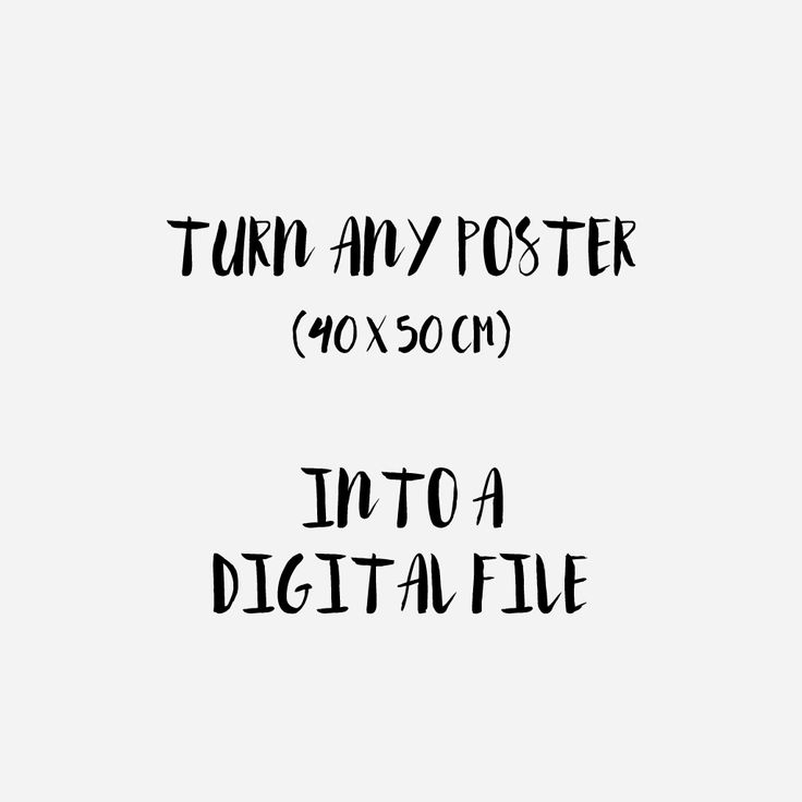 Turn any large size poster into a digital file.Choose from the link here.Just note the name of the poster as a comment during check-out. Join me on Facebook –Twitter–Tumblr–Instagram–Pinte… #etsy #design