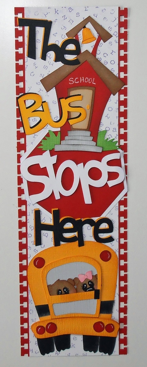 BLJ Graves Studio: Bus Stops Here School Border for Scrapbook Page
