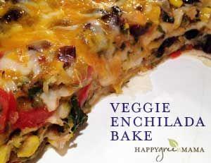 Easy Healthy Recipe: Vegetarian Enchilada Casserole - Five Spot Green Living (Formerly Happy Green Mama)