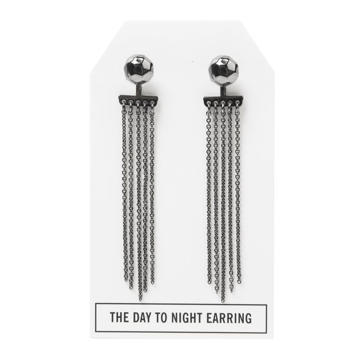 Nugget Day to Night Earring in Gunmetal - available in gold, silver, and gunmetal. $28. #gunmetalearrings #gunmetaljewelry #convertiblejewelry #fancyearrings #daytonight #daytonightearrings #jewelrygift