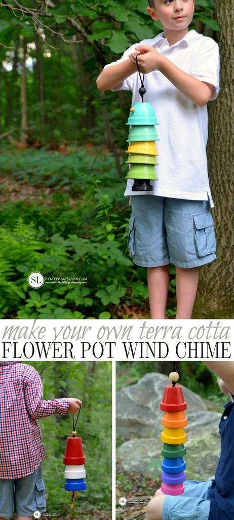 Flower Pot Wind Chimes | how to make a terra cotta clay pot wind chime #michaelsmakers #craftinstyle