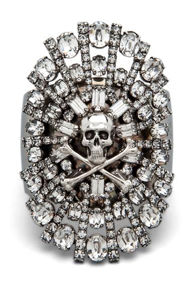 TOM BINNS  Parure Crystal #Skull & Crossbones Cuff