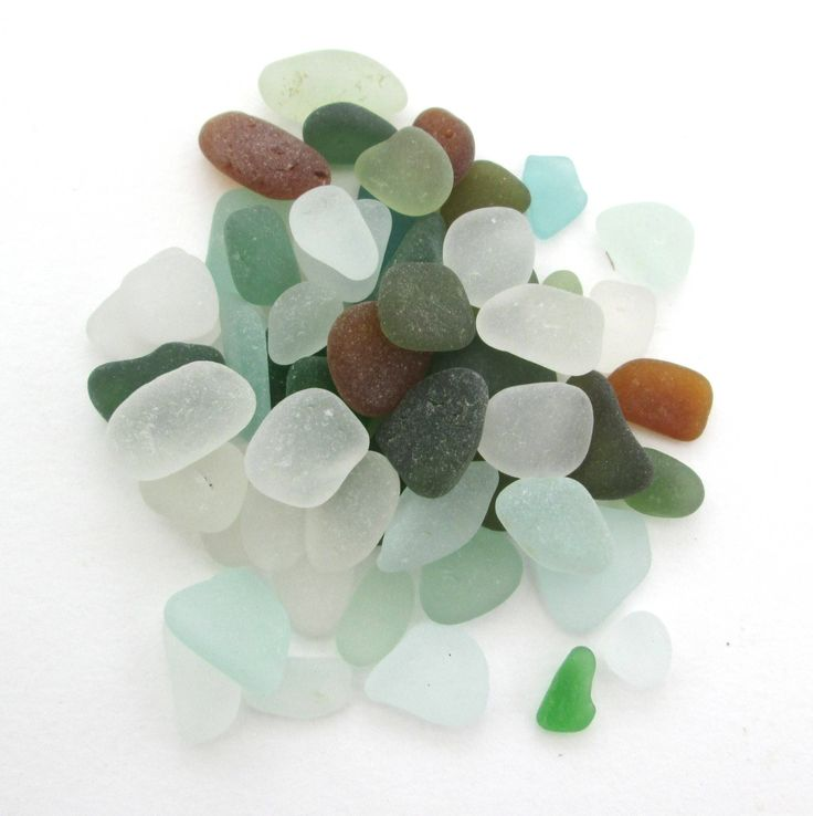 Cornish beach glass, English sea glass, Surf tumbled glass, eco craft supply, jewelry making supplies, 50 frosted pieces, UK collector by BlueBoxStudio on Etsy
