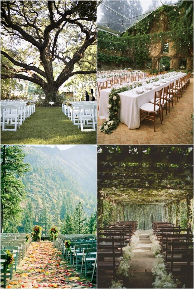THIS IS EVERYTHING! yes  Rustic Weddings » 20+ Genius Outdoor Wedding Ideas » Outdoor wedding venues