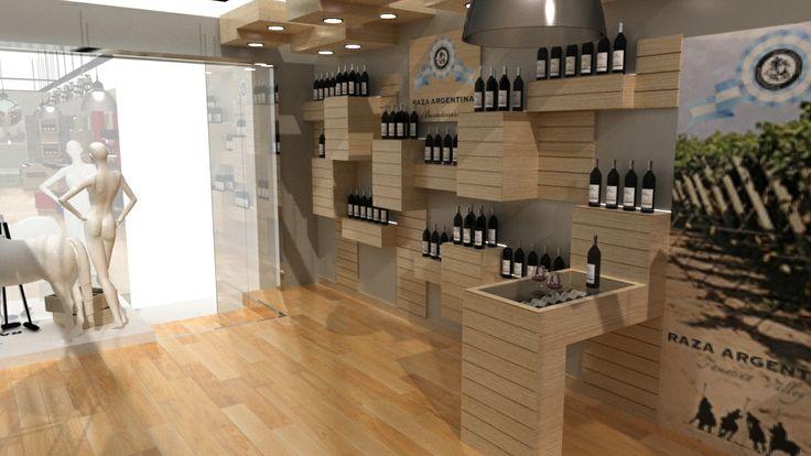 Dise o y fabricaci n de mobiliario local vinoteca e - Diseno de vinotecas ...