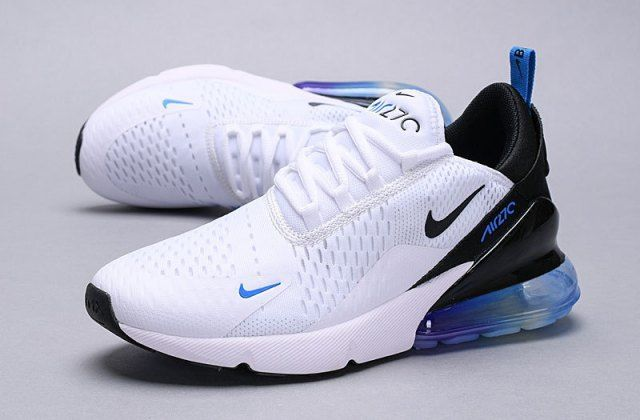 Mens Womens Winter Nike Air Max 270 Sneakers White Black Blue