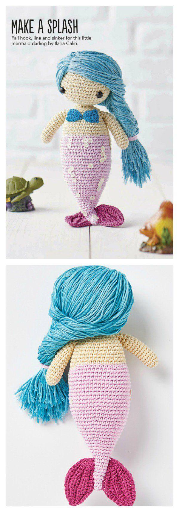 Crochet Amigurumi Mermaid Doll Free Pattern