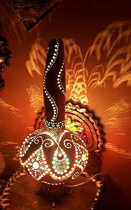 Lamps From Turkey, Made From Gourds