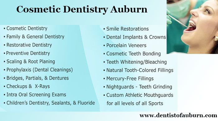 Sunrise Dental of Auburn offers all type of dental services