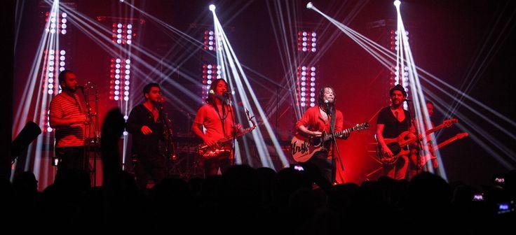 Kapela Kryštof při úvodním koncertě klubového turné ve Strakonicích (11. října 2013)