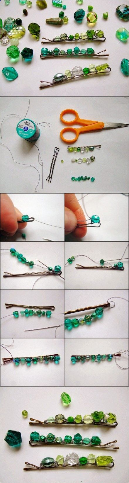 Hair Clips - This has infinite possibilites.. Pretties for Pennies! Again, perfect for little girls. Could this work on clippies?