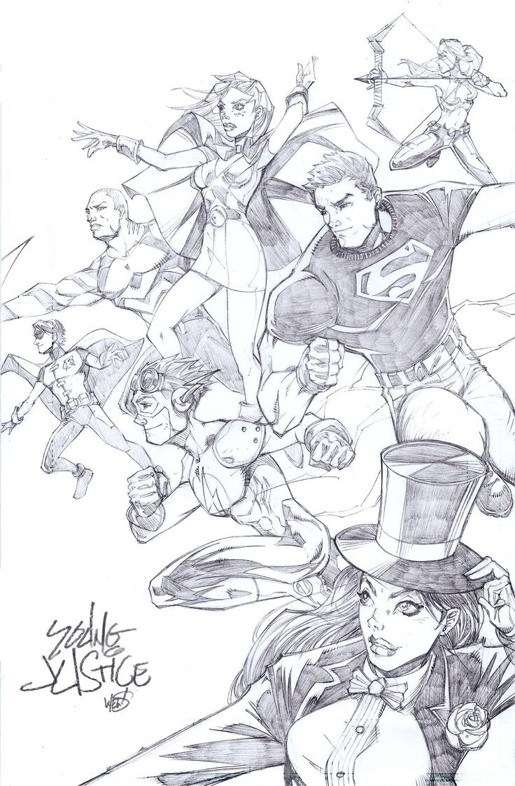 Young Justice by WEGJART by wegj