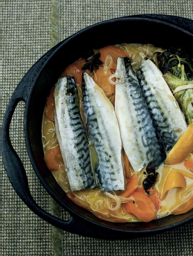 Mackerel escabeche recipe from Kitchin Suppers by Tom Kitchin | Cooked