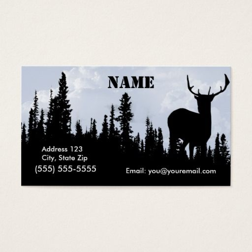 149 best hunter business cards images on pinterest business cards hunting and wild life art deer and forest business card colourmoves