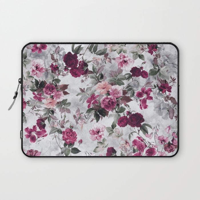Rose Red Laptop Sleeve#floral #art #tech #laptop #society6
