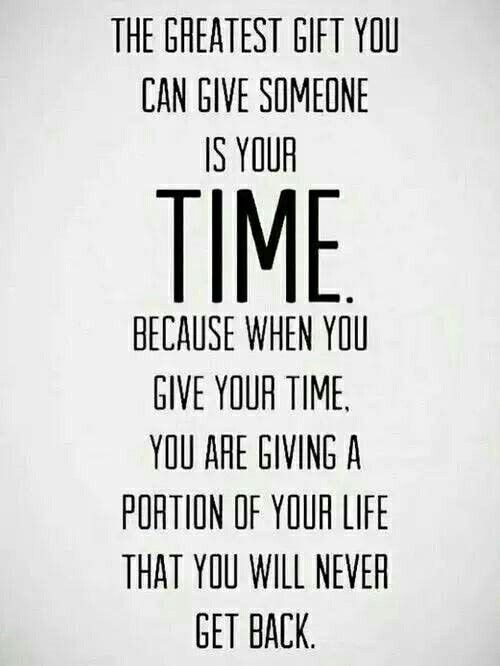 I Wish everybody realized how important it is to share time with your loved ones.