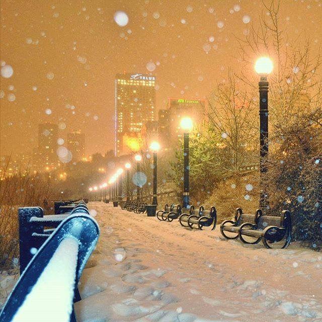 Winter in Edmonton, Alberta