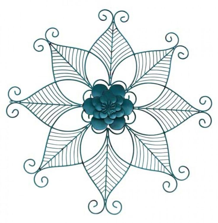 Home :: Metal Wall Art :: Flowers, Leaves & Trees :: Wall Decor Fleur Outline Large