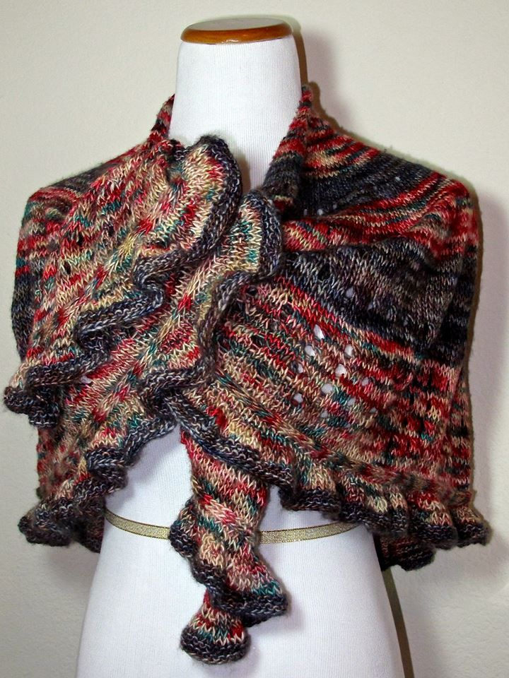Knitting Meaning : Quot vivace means movement this knitted shawl has beautiful