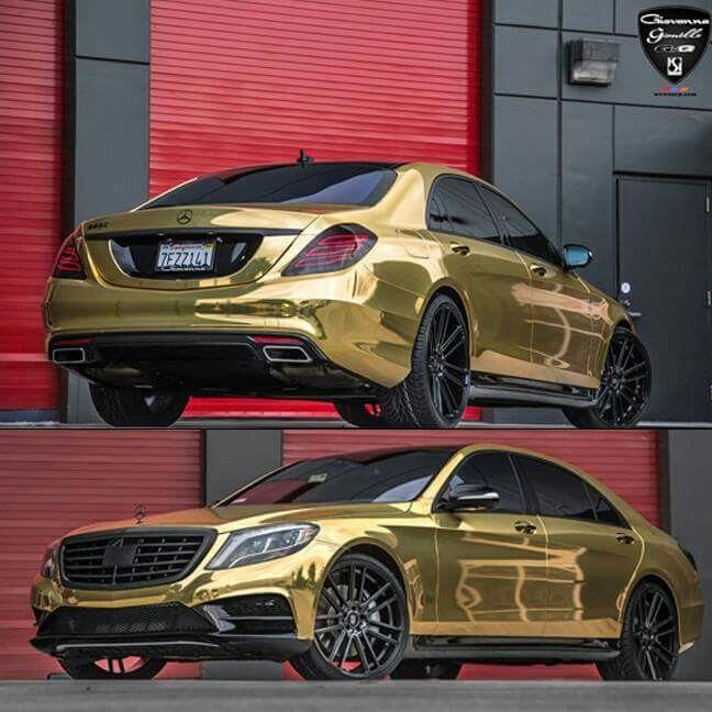 Mercedes Benz S63 Gold Giovanna Wheels Vehicle Wraps
