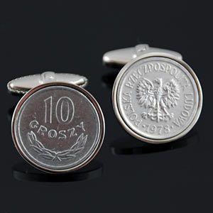 Polish Cufflinks - Groszy from www.worldcoincufflinks.com