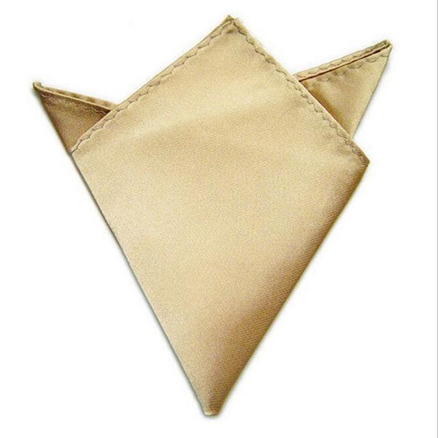 6 Colors Suit Pocket Cravat 22x22cm Square Pocket Handkerchief Men Cravat Ties