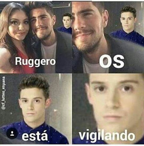 Ojito que ruggerito los vigila eh!! Jajajajaja @ruggeropasquarelli @karolsevillaofc @yfervazquez #ruggero #karol #ruggarol #soyluna #matteo #luna #lutteo
