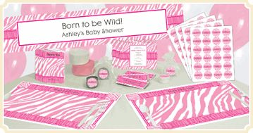 Pink Baby Zebra - Baby Shower Theme Ideas
