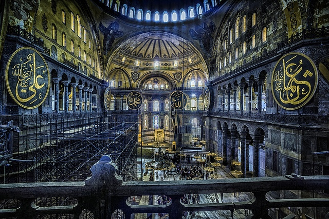 Ayasofya   The Church of the Divine Wisdom (Hagia Sophia in Greek) in Sultanahmet, Istanbul is one of the most impressive and important buildings ever constructed. Its wide, flat dome was a daring engineering feat in the 6th century, and architects still marvel at the building's many innovations.  Ayasofya is awe-inspiring—one of the first things to see when you're in Istanbul.