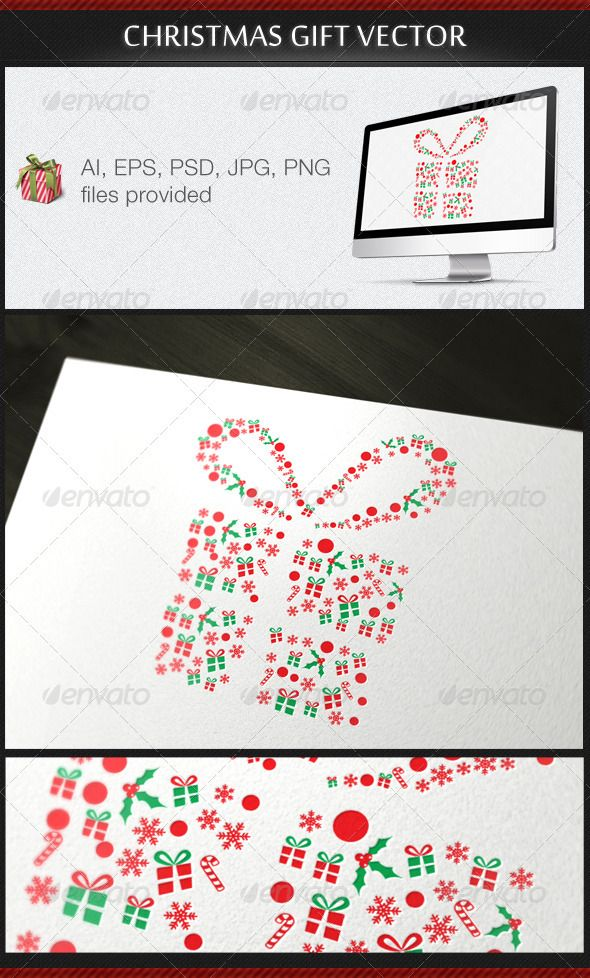 Christmas Gift Vector - DOWNLOAD NOW