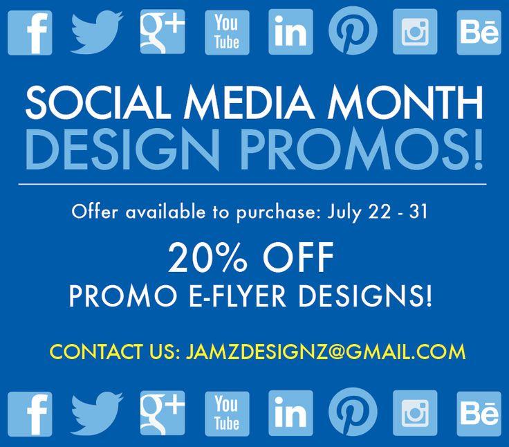 Jamz Designz graphic design promotions for July. #socialmedia #graphicdesign #design #creative #promotion www.jamzdesignz.com