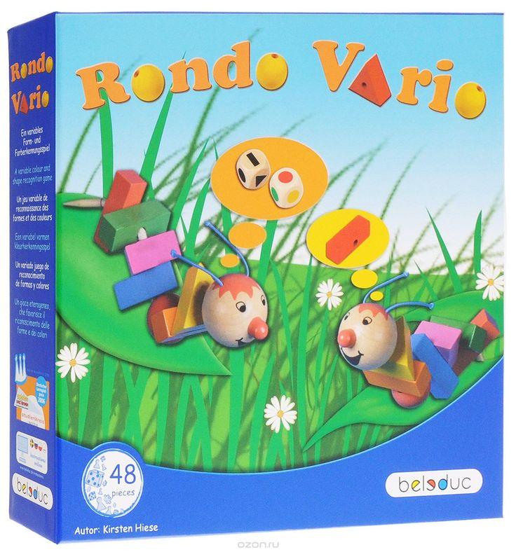 Beleduc Обучающая игра Рондо Варио 2239122391Обучающая игра Beleduc Рондо Варио, в которую можно играть самыми разными способами, понравится как малышам, так и детям постарше. В процессе игры малыши развивают мелкую моторику, а дети постарше - быстроту реакции. Игроки также изучают цвета и формы. Маленькие гусеницы очень взволнованы, ведь сегодня им предстоит примерить новые разноцветные наряды. Выбор очень велик, ведь перед ними так много различных цветов и форм! Так непросто выбрать из…
